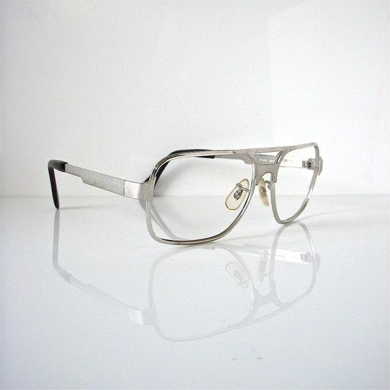 Eyeglass Frames No Lenses : Aluminum eyeglass frames no lenses 70s science teacher