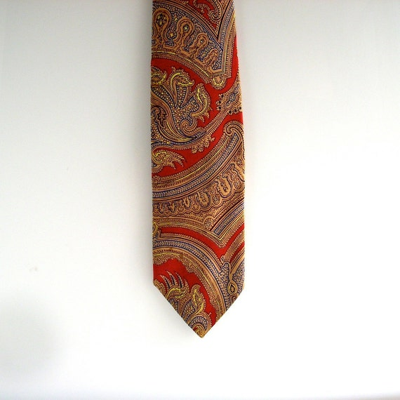 Ralph Lauren Polo silk tie paisley print - summer wedding style - Kolmen Marcus fancy mens shop NYC