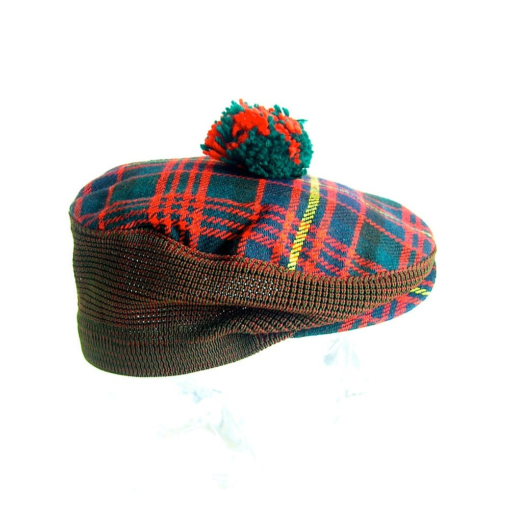 60s Dunn Co Scottish Plaid Winter Hat on 20 000 Vacation