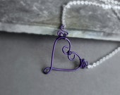 Hearts Ablaze Purple Passion Limited Edtion Necklace