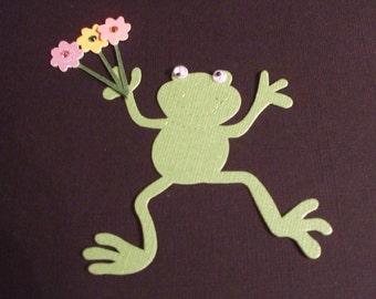 Exclusive Happy Frog  -Glittered Flowers - Die Cut
