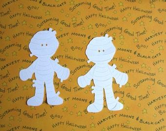 Halloween Die Cuts - Mummies - Set of 4