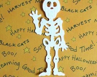 "Halloween Die Cuts - Skeletons - Cute  Bazzill Cardstock - Set of 3 - 5"" Tall"