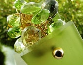 14 K Gold Gemstone Cluster Ring in Chartreuse Handmade Jewelry by Ocean Phoenix Designs on Etsy