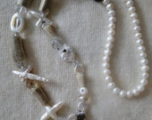 Deer Antler Necklace with Pearls and Gemstones by Ocean Phoenix Designs on Etsy