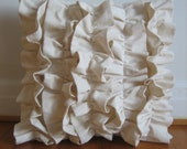 Five Ruffles Pillow Cover in Ivory (as seen in House Beautiful)