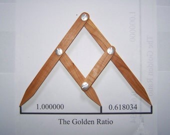 Fibonacci Gauge, Arts and Crafts Golden Ratio Design Tool, PHI Caliper