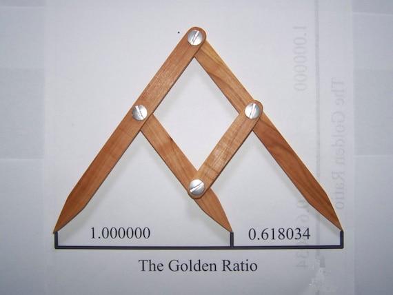 Fibonacci Gauge, Arts and Crafts Golden Ratio Design Tool, PHI Caliper