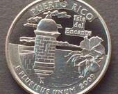 Puerto Rico, Guam, N Marianas, Samoa, Virgin Islands  US Territory Quarter Hand Cut Coin Jewelry