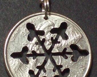 Snowflake Pendant in Quarter