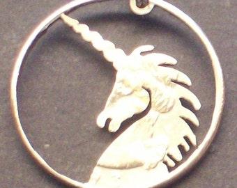 Unicorn Quarter Cut Coin Jewelry