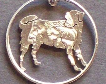 Dog Golden Retriever Hand Cut Coin Jewelry