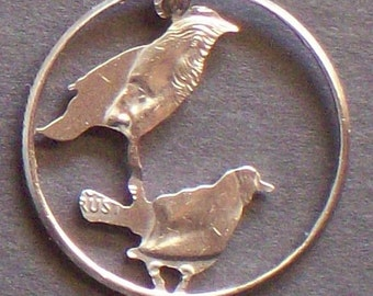 Birds Hand Cut Coin Jewelry