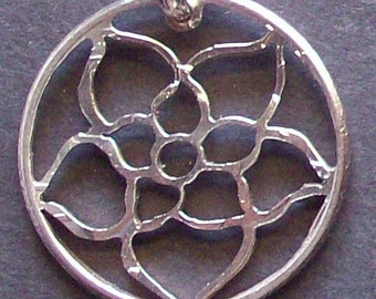 Flower Hand Cut Coin Jewelry