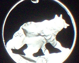 Bear Hand Cut Coin Jewelry