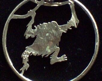 Orangutan Hand Cut Coin Jewelry