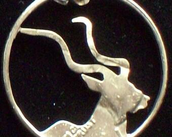 Kudu Hand Cut Coin Jewelry