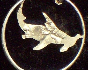 Shark Hammerhead Hand Cut Coin Jewelry