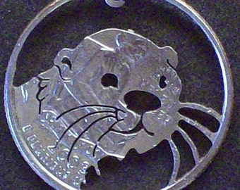 Otter Hand Cut Coin Jewelry