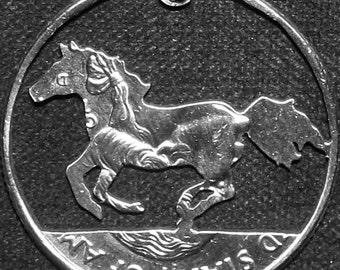 Horse Hand Cut Coin Jewelry