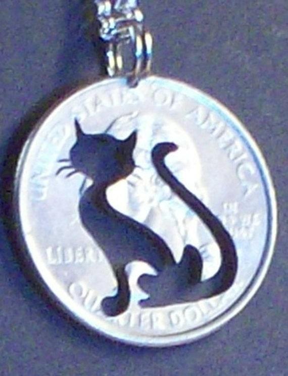 Cat Hand Cut Coin Jewelry