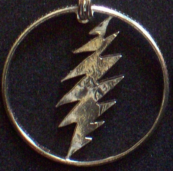 Lightning Hand Cut Coin Jewelry
