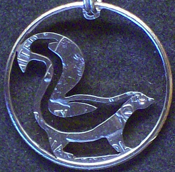 Skunk Hand Cut Coin Jewelry