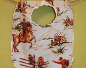 The Dressy Drooler Bib in Western Cowboy print