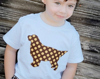 Golden Retriever baby bodysuit or toddler t-shirt - You pick the fabric