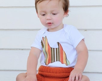 Westie bodysuit or toddler t-shirt - You pick the fabric