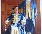 Portrait Painting - Custom commissioned hand painted 20x24 oil painting with two subjects