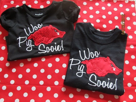 Woo Pig Sooie-  Made to order Razorbacks tee for Toddlers/Children