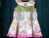 Custom Nicey Jane Retro Round-Neck Ruffle Dress Size 12m 18m 2T 3T 4T 5 6 by The Cottage Mama