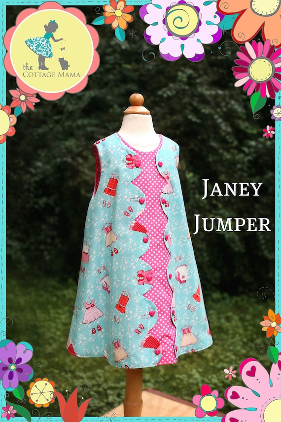 Janey Jumper - Original Paper Printed Sewing Pattern - Size 6 Month through 10 Years