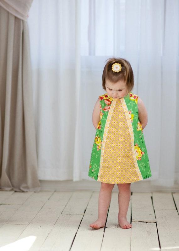 PRINTED PATTERN: Ruby Ruffle Dress - Original Printed Sewing Pattern - Size 6 Month through 10 Years