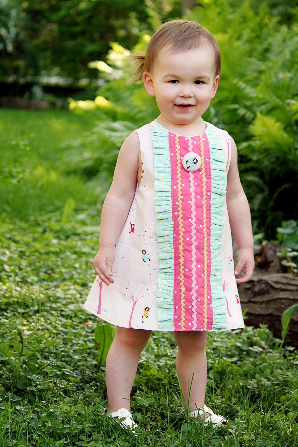 PRINTED Sewing Pattern: Janey Jumper A-Line Dress - Size 6 Month through 10 Years