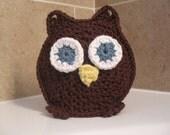 Owl Washcloth Bath Mitt-Bath time's a HOOT with William the Owl Ready to Ship!