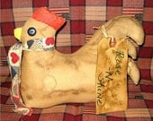 OFG-Handmade Primitive Grungy Chicken FREE shipping