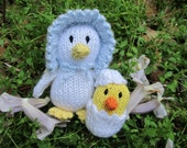 Mama and Baby Ducks - knitted toys