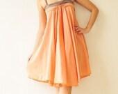 SALE 50% Wind of change.... Orange Cotton Dress
