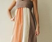 The Line Part II ...Orange Cream Maxi Cotton dress