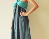 SALE 50% Feel So Good ...Dark Blue Halter Maxi Cotton dress(Limited)