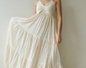Sea.....Cotton long dress - White Summer