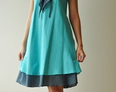Twist....Blue Cotton dress