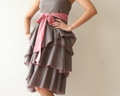 Waft ... Gray with dark pink Cocktail Dress 2 Sizes Available