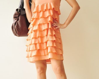 Summer Breeze  ...Orange  Cotton dress