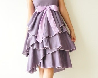 Waft ... Purple Cocktail Dress 2 Sizes Available
