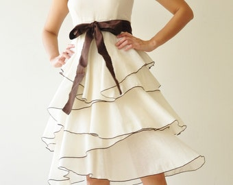 SALE 20% Waft  ...  White Cocktail Dress 2 Sizes Available