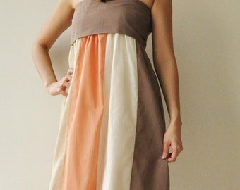 The Line Part II ...Orange Cream Maxi Cotton dress