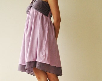 SALE 50% Feel So Good - Short ...Purple Halter Maxi Cotton dress (limited)